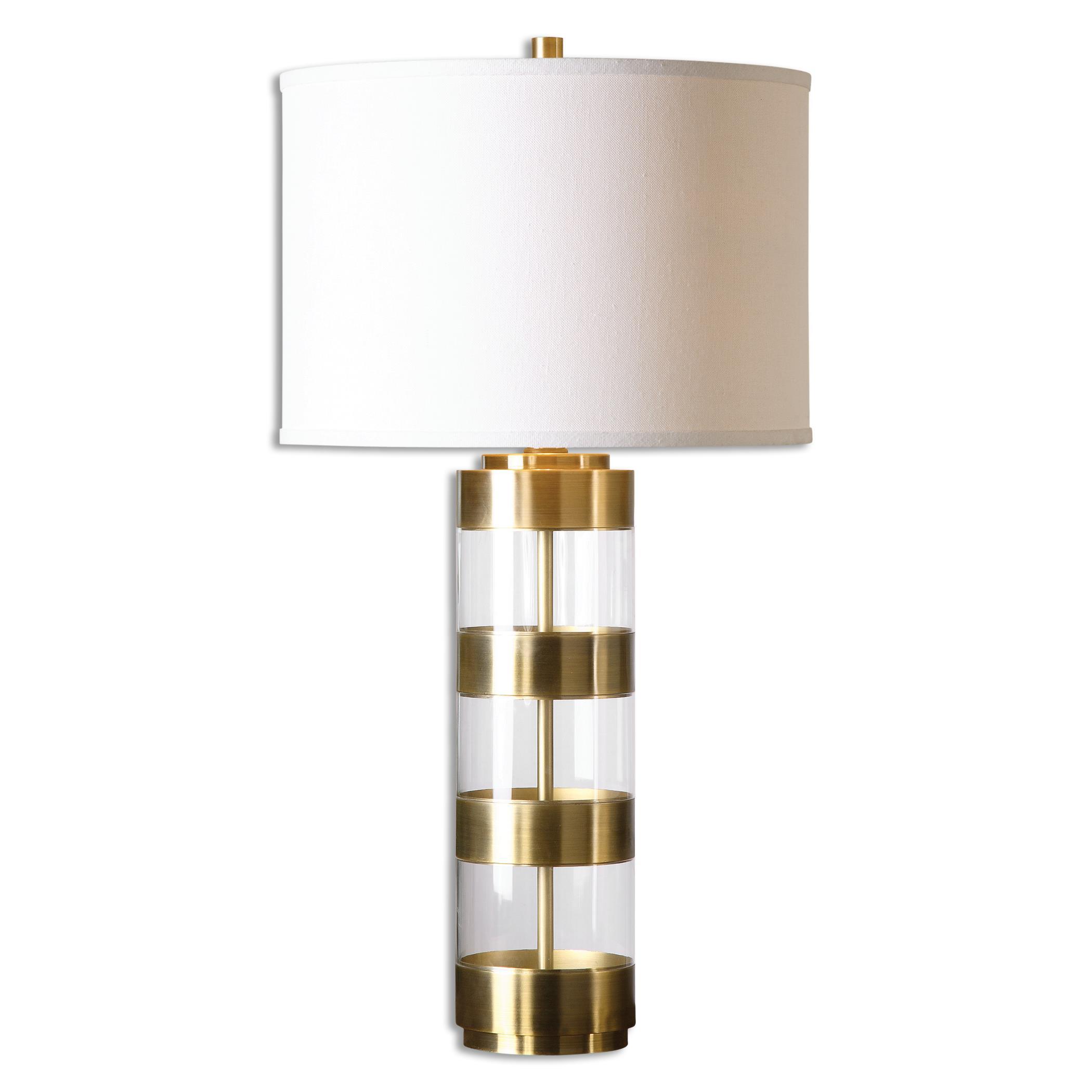 Angora Brushed Brass Table Lamp