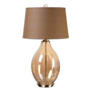 Uttermost Lamps Bartolomeo Amber Glass Table Lamp