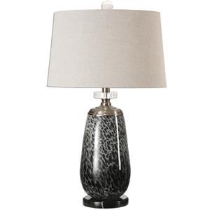 Uttermost Lamps Vergato Charcoal Glass Table Lamp