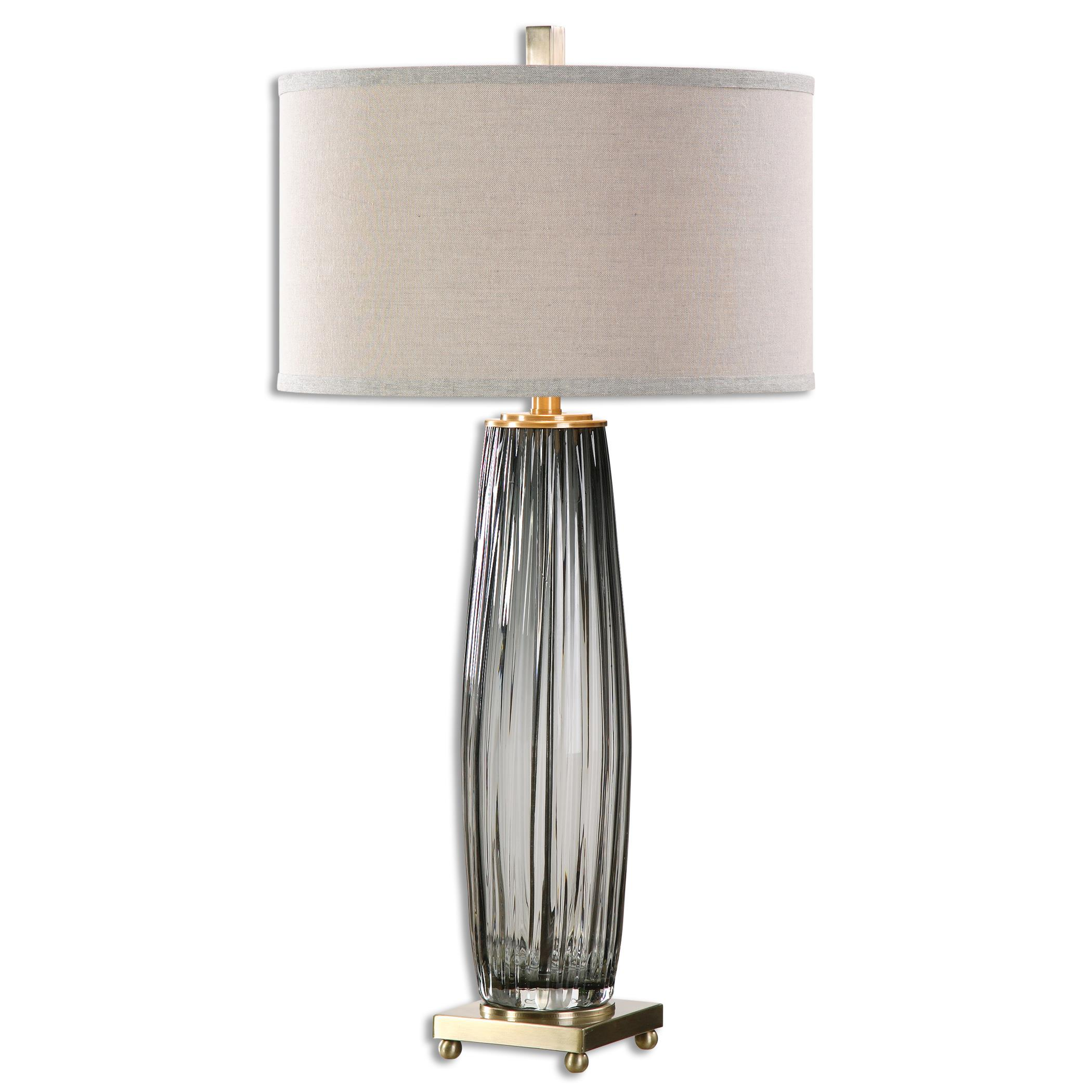 Vilminore Gray Glass Table Lamp