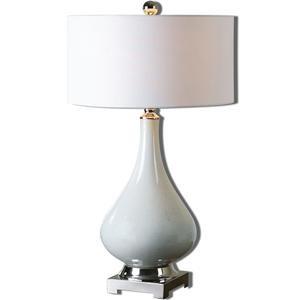 Uttermost Lamps Helton White Table Lamp