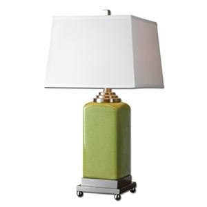 Uttermost Lamps Piven Green Table Lamp