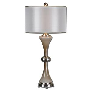 Uttermost Lamps Amerson Taupe Gray Glass Table Lamp
