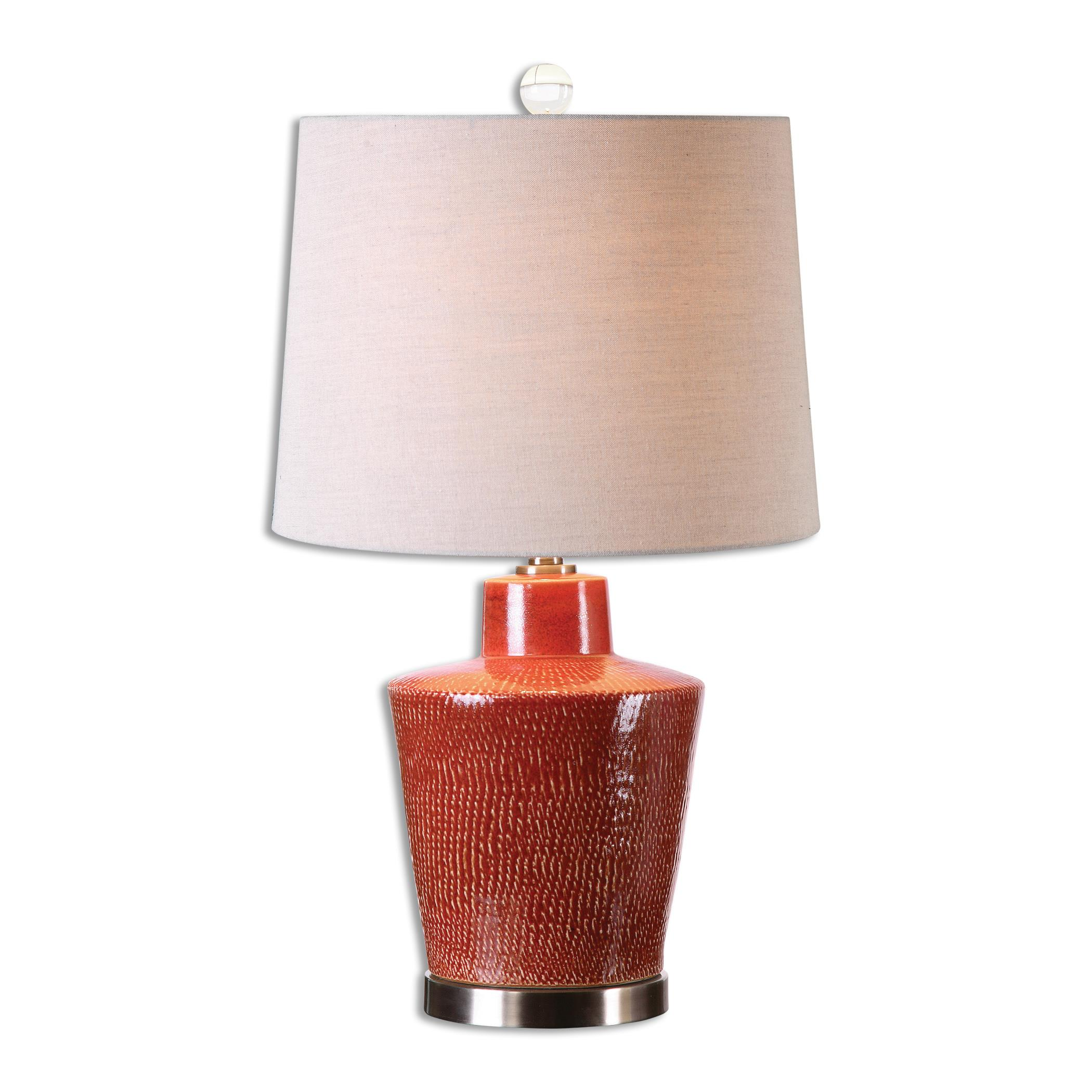 Cornell Brick Red Table Lamp
