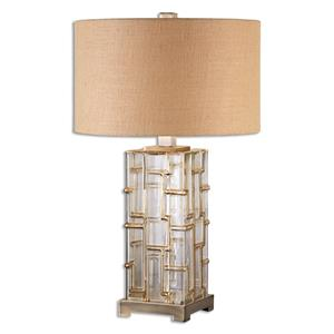 Uttermost Lamps Coburn Amber Glass Table Lamp