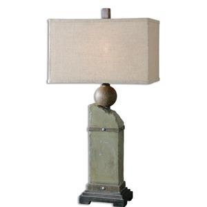 Uttermost Lamps Verdellino Moss Gray Table Lamp