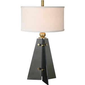 Uttermost Lamps Everly Smoke Glass Table Lamp