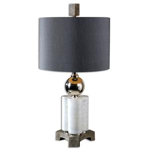 Uttermost Lamps Dantoni White Alabaster Table Lamp