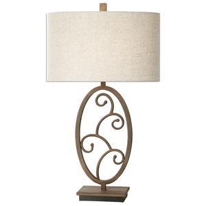 Uttermost Lamps Salina Forged Metal Lamp