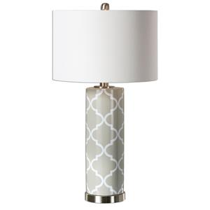 Uttermost Lamps Anzano Gray Glass Lamp