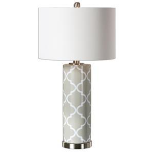 Uttermost Lamps Anzano Gray Glass Lamp