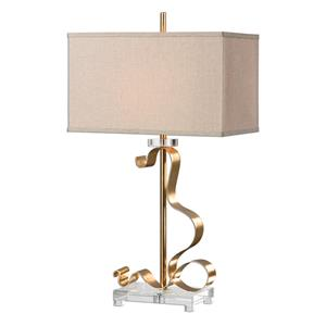 Uttermost Lamps Camarena Bright Gold Lamp
