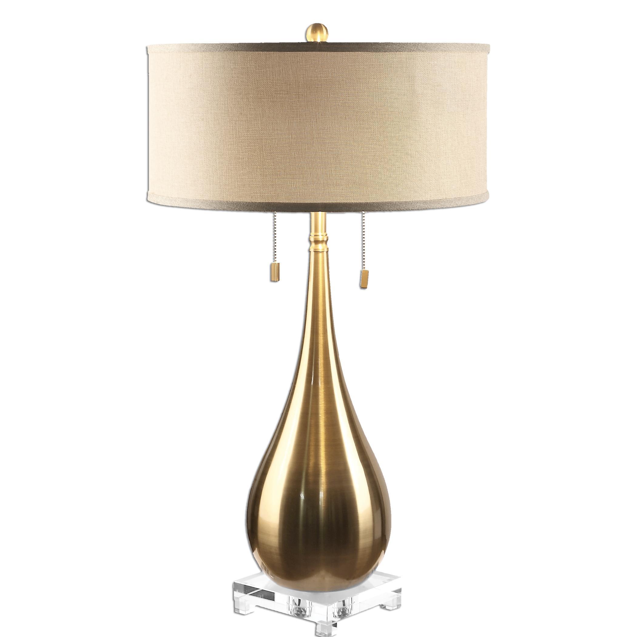 Lagrima Brushed Brass Lamp