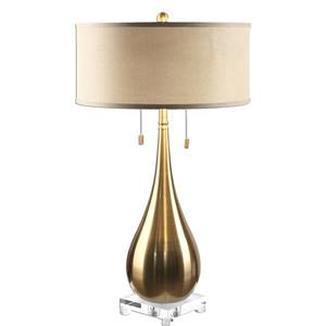 Uttermost Lamps Lagrima Brushed Brass Lamp