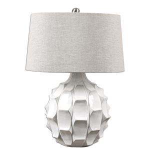 Uttermost Lamps Guerina Scalloped White Lamp