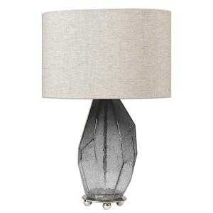 Uttermost Lamps Stazzona Crackled Gray Glass Lamp