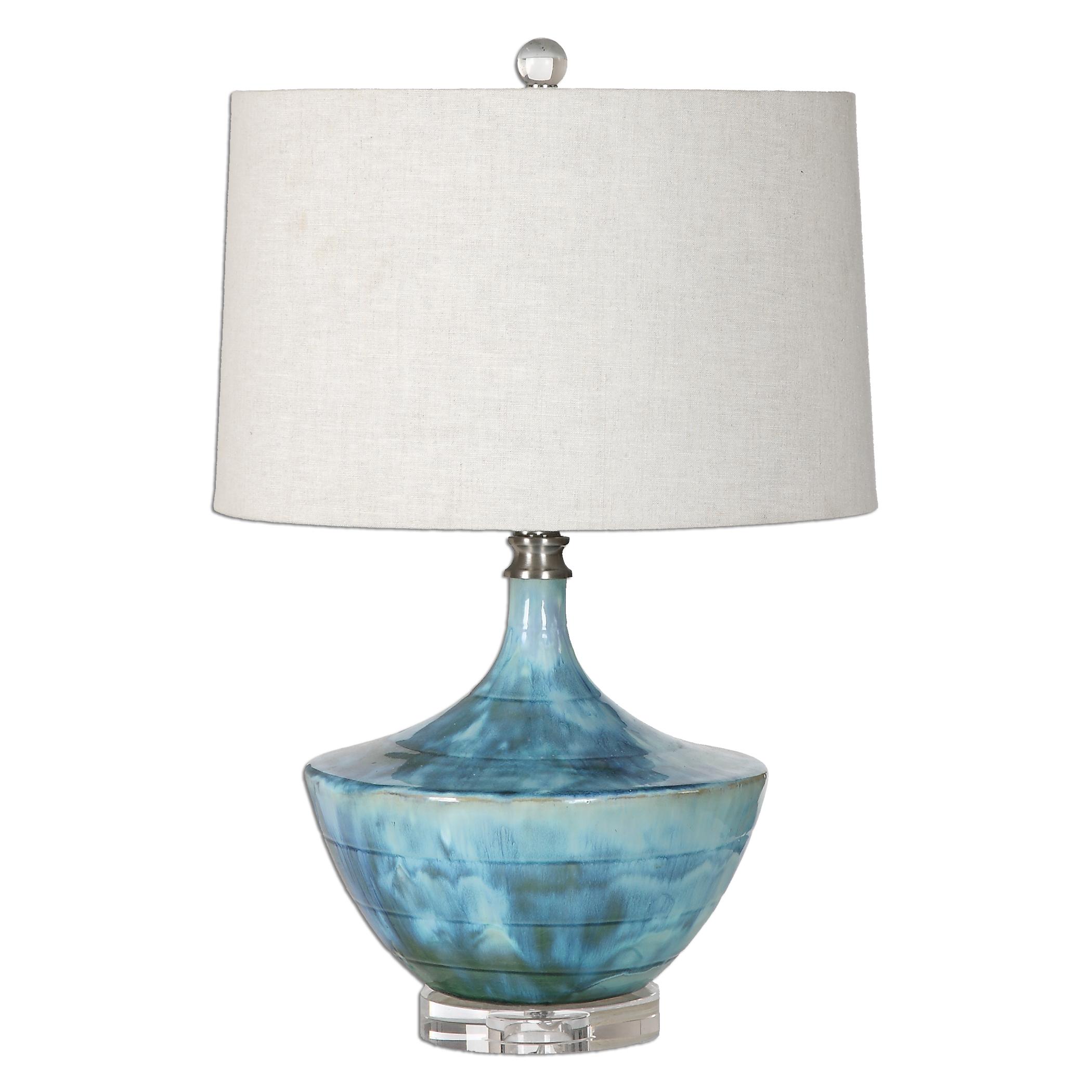 Chasida Blue Ceramic Lamp