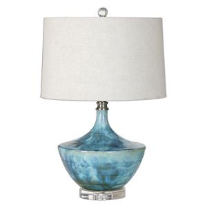Uttermost Lamps Chasida Blue Ceramic Lamp