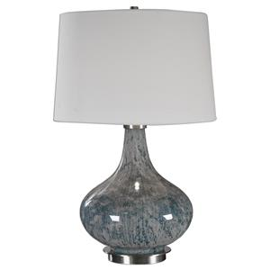 Celinda Blue Gray Glass Lamp