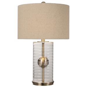 Uttermost Lamps Tupelo Glass Cylinder Lamp