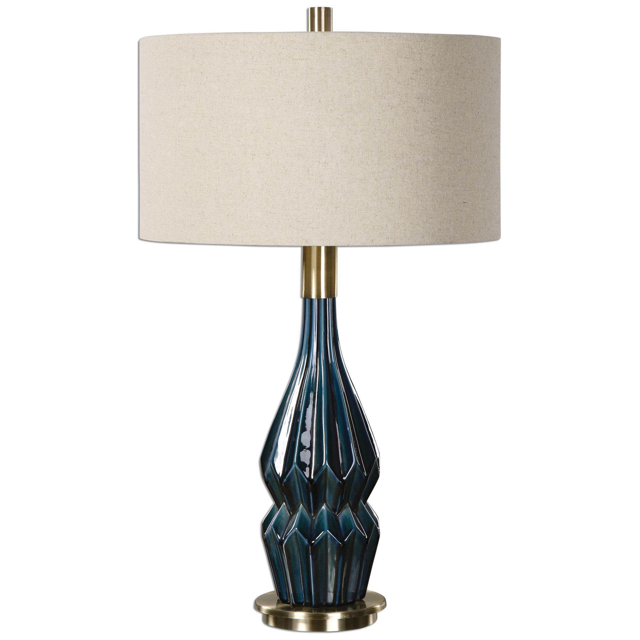 Prussian Blue Ceramic Lamp