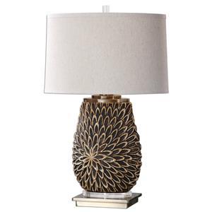 Uttermost Lamps Verzino Beige Dark Rust Lamp