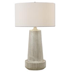 Uttermost Lamps Delmona Fluted Mercury Glass Lamp