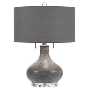 Uttermost Lamps Canelo Distressed Black Glass Lamp