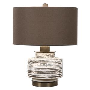 Uttermost Lamps Saltillo Aged White Ceramic Lamp