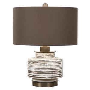 Uttermost Lamps Saltillo Aged White Ceramic Lamp