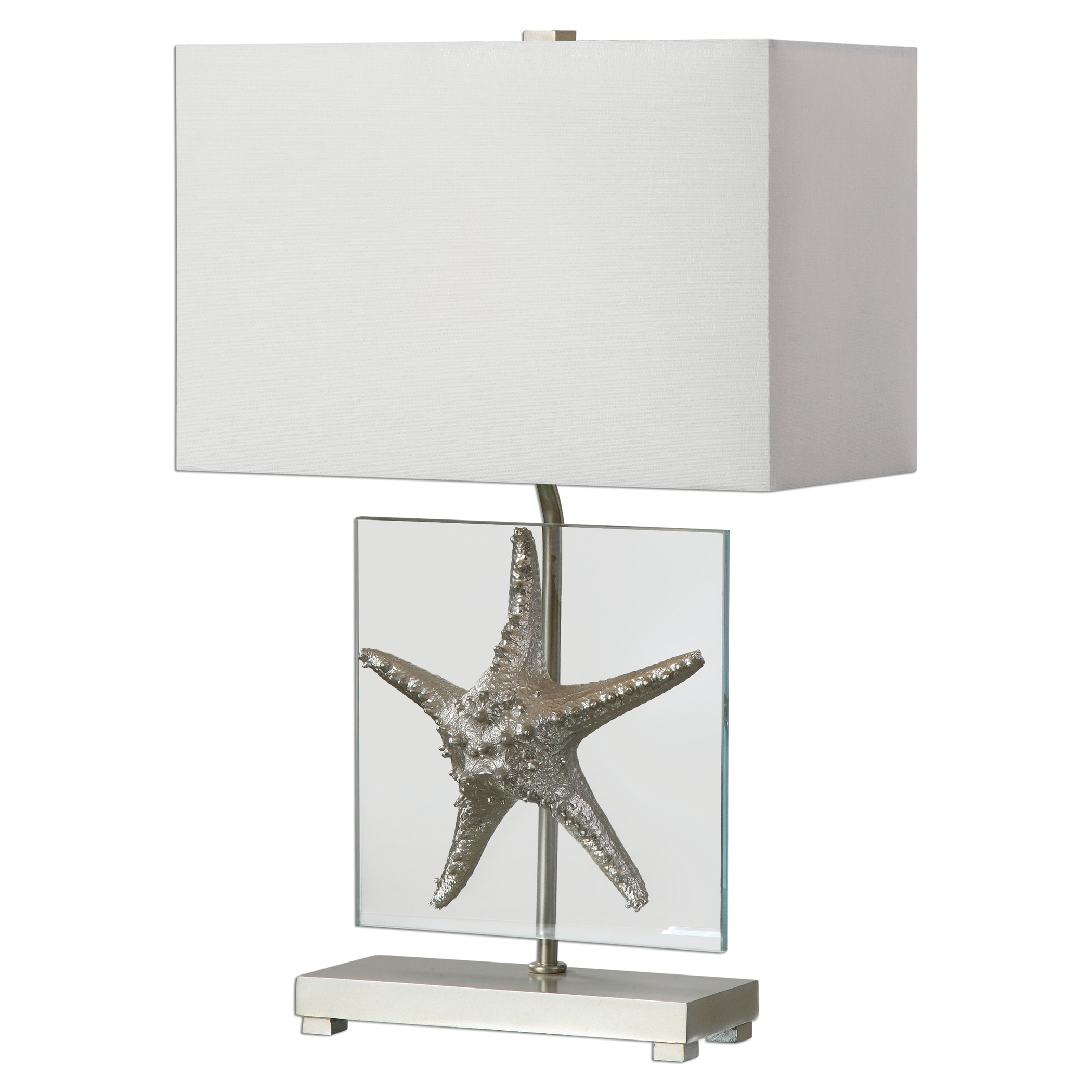 Uttermost Lamps Silver Starfish Table Lamp - Item Number: 27101-1
