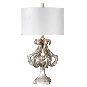 Uttermost Lamps Vinadio Distressed Silver Table Lamp