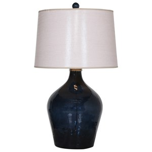 Lamone Blue Glass Lamp