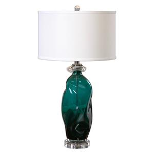 Uttermost Lamps Rotaldo Blue-Green Glass Table Lamp