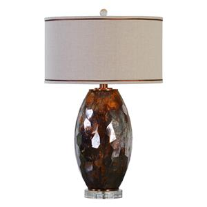Uttermost Lamps Sabastian Bronze Glass Table Lamp