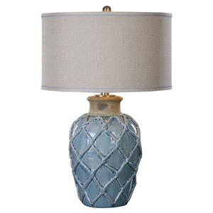 Uttermost Lamps Parterre Pale Blue Table Lamp