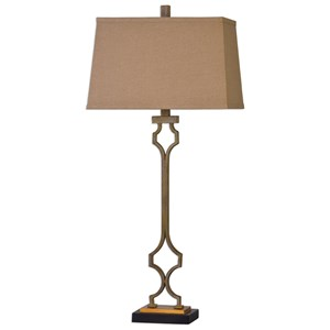 Uttermost Lamps Vincent Gold Table Lamp
