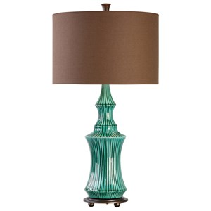 Uttermost Lamps Timavo Teal Ceramic Lamp