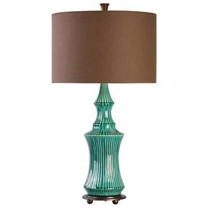 Uttermost Lamps Timavo Teal Ceramic Lamp