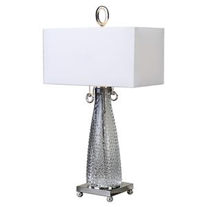 Uttermost Lamps Ostola Smokey Glass Lamp
