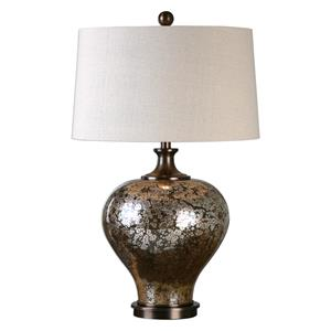 Uttermost Lamps Liro Mercury Glass Table Lamp