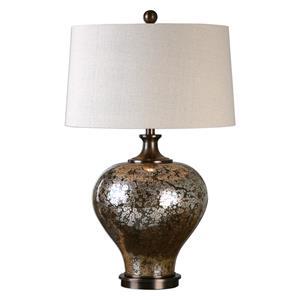 Uttermost Lamps Liro Mercury Glass Table Lamp