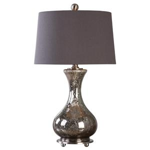 Uttermost Lamps Pioverna Mercury Glass Table Lamp