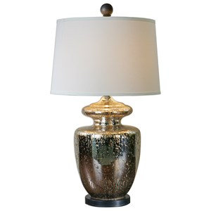 Uttermost Lamps Ailette Antiqued Mercury Glass Lamp
