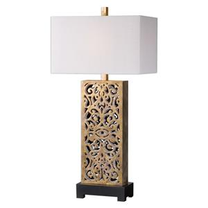 Uttermost Lamps Vishera Antiqued Gold Table Lamp