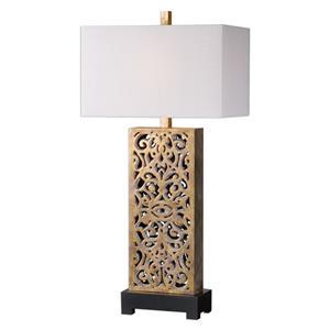 Uttermost Lamps Vishera Antiqued Gold Table Lamp