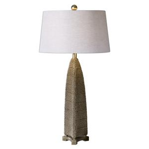 Uttermost Lamps Kolva Antiqued Silver Table Lamp