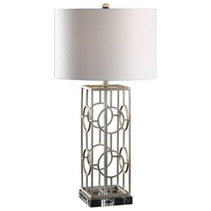 Uttermost Lamps Mezen Silver Table Lamp