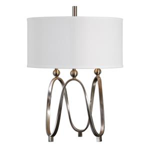 Uttermost Lamps Akiro Brushed Nickel Table Lamp