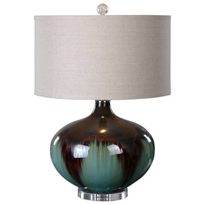 Uttermost Lamps Lakselva Teal Blue Ceramic Lamp